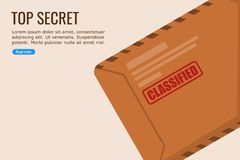 Flat Design Vector of a Classified Files vector illustration