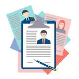 Flat design vector concept for human resource Royalty Free Stock Images