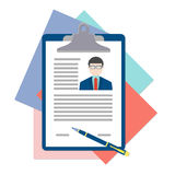 Flat design vector concept for human resource Stock Images