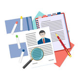 Flat design vector concept for human resource Stock Image