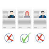 Flat design vector concept for human resource Royalty Free Stock Photo