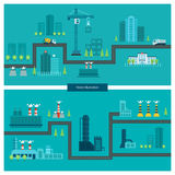 Flat design vector concept illustration with icons Royalty Free Stock Photos