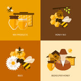 Flat design vector concept illustration with icons Stock Photo
