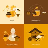 Flat design vector concept illustration with icons Stock Images