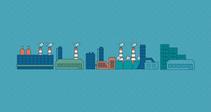Flat design vector concept illustration with icons Stock Photography