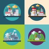 Flat design vector ecology concept illustration Royalty Free Stock Photos