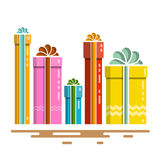 Flat Design Vector Gift Boxes Royalty Free Stock Photos