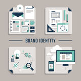 Flat design vector icons for brand identity Stock Image