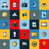 Flat design vector icons set of SEO elements Royalty Free Stock Images