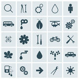 Flat Design Vector Icons Set Stock Images