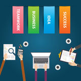 Flat design vector illustration Business teamwork. Flat design style, Vector illustration. EPS 10 Stock Images