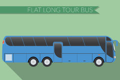 Flat design vector illustration city Transportation, Bus, intercity, long distance tourist coach bus, side view Stock Image