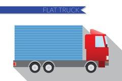 Flat design vector illustration city Transportation, small truck for transportation cargo, side view Stock Images