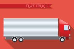 Flat design vector illustration city Transportation, truck for transportation cargo, side view Stock Images