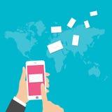 Flat design vector illustration concept for E-mail marketing Stock Photo