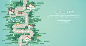 Flat Design Vector Illustration Concept of Ecology