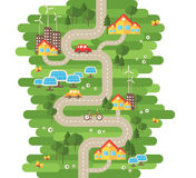 Flat Design Vector Illustration Concept of Ecology Royalty Free Stock Image