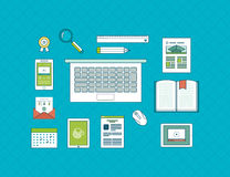 Flat design vector illustration concept icons set Stock Photo