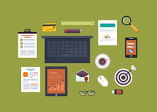 Flat design vector illustration concept icons set Royalty Free Stock Photography