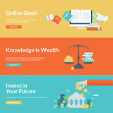Flat design vector illustration concepts for education Stock Photography
