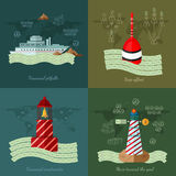 Flat design vector illustration concepts of finance and business Royalty Free Stock Images