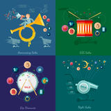 Flat design vector illustration concepts of sale and business Royalty Free Stock Photo