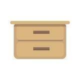 Flat design vector illustration of cupboard. Royalty Free Stock Photo