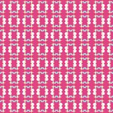 Seamless pattern of stars and geometric shapes in white, blue and brown yellow colors on dark pink magenta background. royalty free illustration