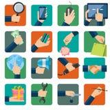 Flat design vector illustration icons set Stock Image