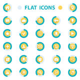 Flat design vector illustration icons set for web. Isolated on white background Royalty Free Stock Photos