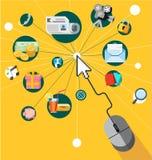Flat design vector illustration icons set Stock Images