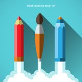 Flat design vector illustration startup concept Royalty Free Stock Photo