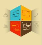 Flat design vector illustration technology and communication Stock Image