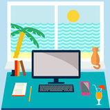 Flat design vector illustration Stock Images