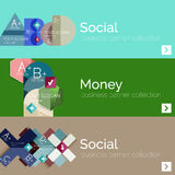 Flat design vector infographic banners with Royalty Free Stock Image