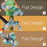 Flat design vector infographic banners with Royalty Free Stock Photos