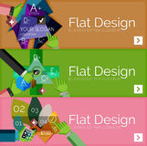 Flat design vector infographic banners with Stock Photos