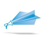 Flat design vector megaphone illustration Royalty Free Stock Image
