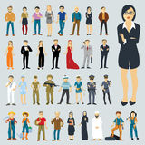Flat design vector people Stock Images