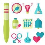 Flat design, vector set of fertility icons. On white background. Vector illustration Stock Photo