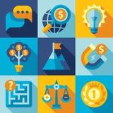 Flat design vector strategy ,goal, development Stock Photography
