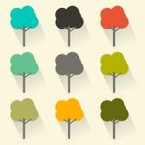 Flat Design Vector Trees Set Stock Image