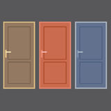 Flat Design Vintage Doors Collection Stock Photo