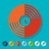 Flat design. vinyl record Royalty Free Stock Image
