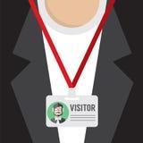 Flat Design Visitor Pass. Stock Photo