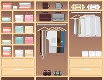 Flat Design walk in closet. Stock Image