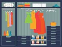 Flat Design walk in closet. Stock Images