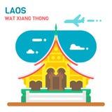 Flat design Wat Xiang Thong. Illustration Stock Photos