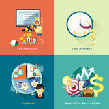 Flat design for web and mobile services and apps Stock Photos