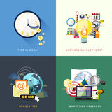 Flat design for web and mobile services and apps Stock Photography